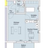 Wohnungsgrundriss Vorderhaus